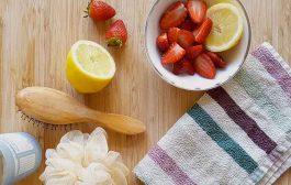 آموزش تهیه ماسک توت فرنگی و لیمو مناسب پوست صورت
