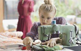 آموزش دوخت پیراهن زنانه از پارچه دامن های بی استفاده